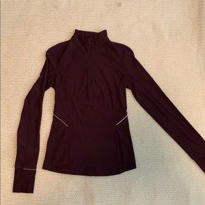 Maroon/burgundy Lululemon 1/2 zip jacket